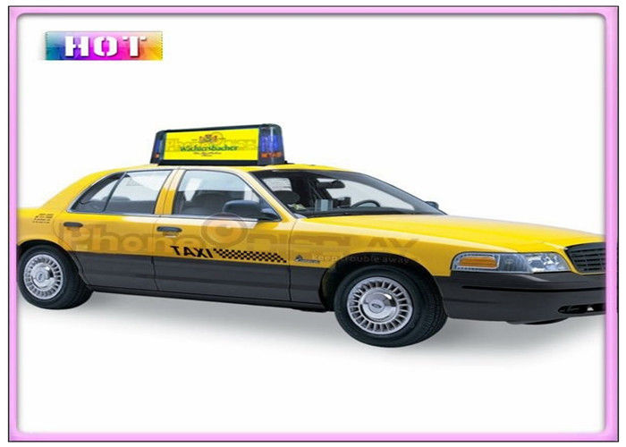 Aluminum Alloy Slim P5 Taxi LED Display Programmable with 3G / WIFI / GPS / USB Wireless