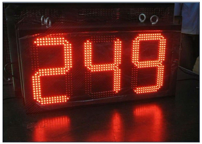 Digital Clock Remote Tri Color LED Gas Station Sign Ultra Thin High Brightness