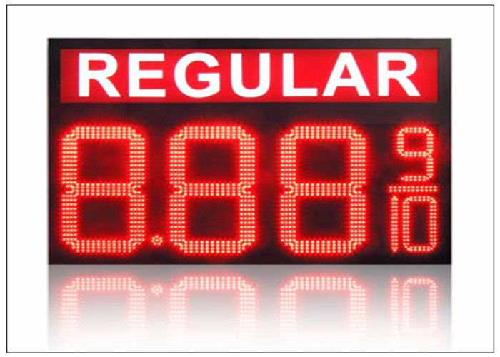 IP68 LED Gas Station Sign / 4 digits number display with 110° Viewing angle , steel shell