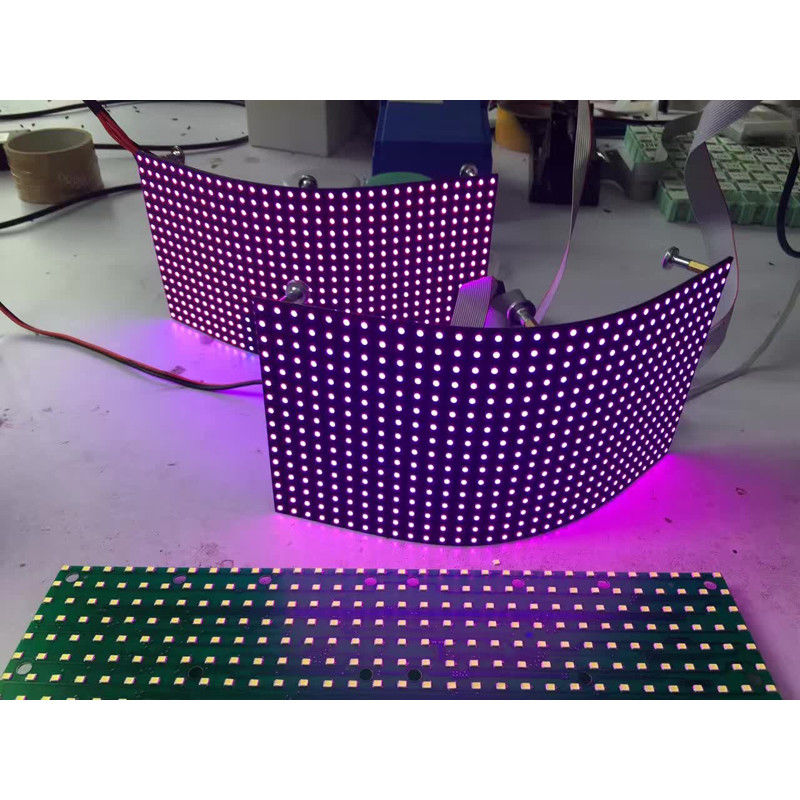 P8mm Flexible Led Screen Smd Module / Video Creative Background Foldable Led Display